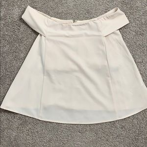 Forever21 cream off the shoulder blouse